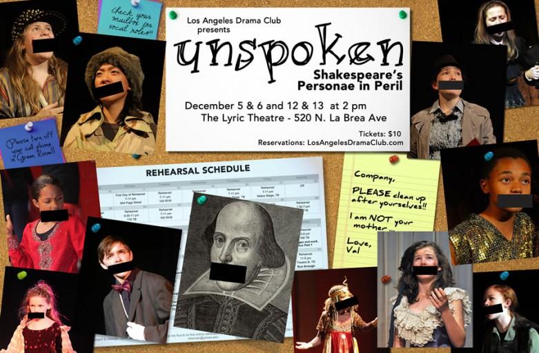 Unspoken: Shakespeare's Personae in Peril